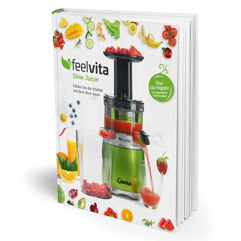 Genius Feelvita | Slow Juicer Rezeptbuch A19258