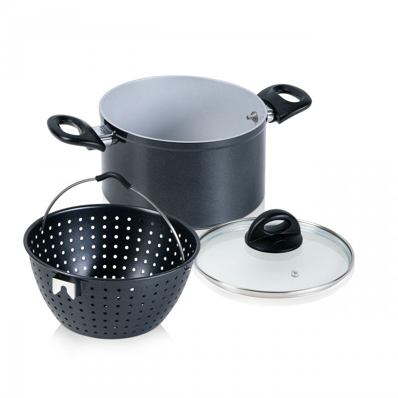 Cerafit Magic Pot | Topf mit Siebeinsatz Ø 20 cm | Set 3-tlg. | B-Ware