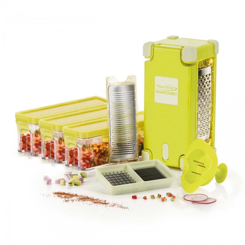 Nicer Dicer Magic Cube Gourmet, Set 12-tlg. | B-Ware