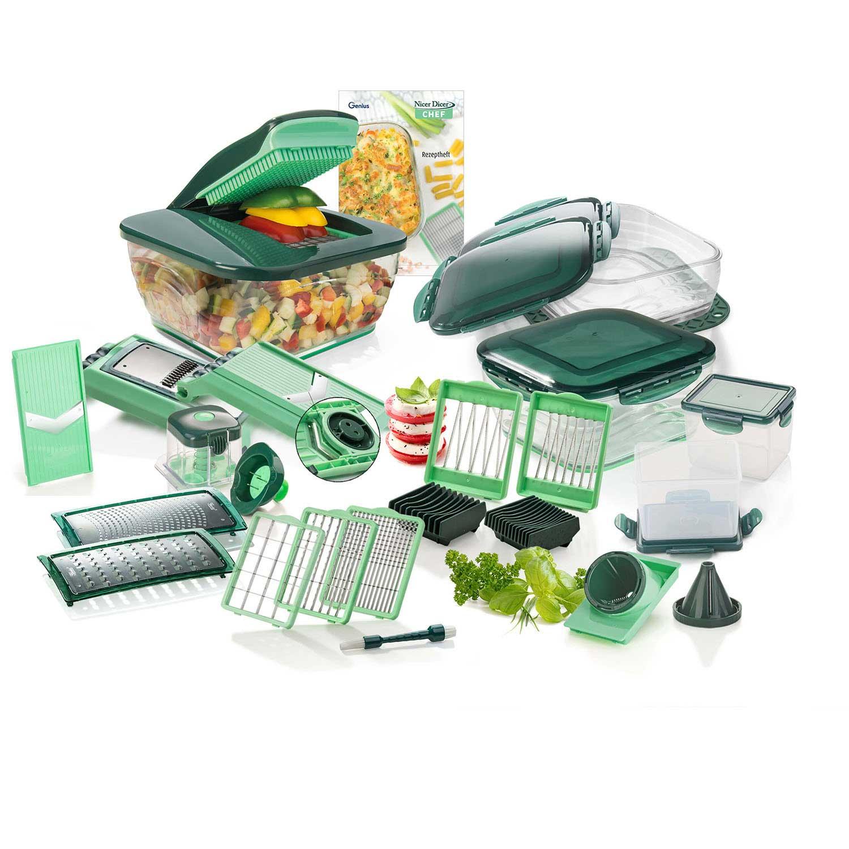 Genius Nicer Dicer Chef (34-tlg.) | inkl. Glasschüssel-Set A27062