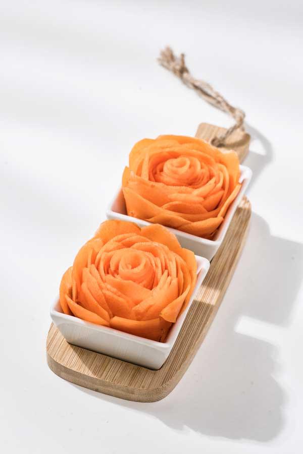 Karotten-Rosen