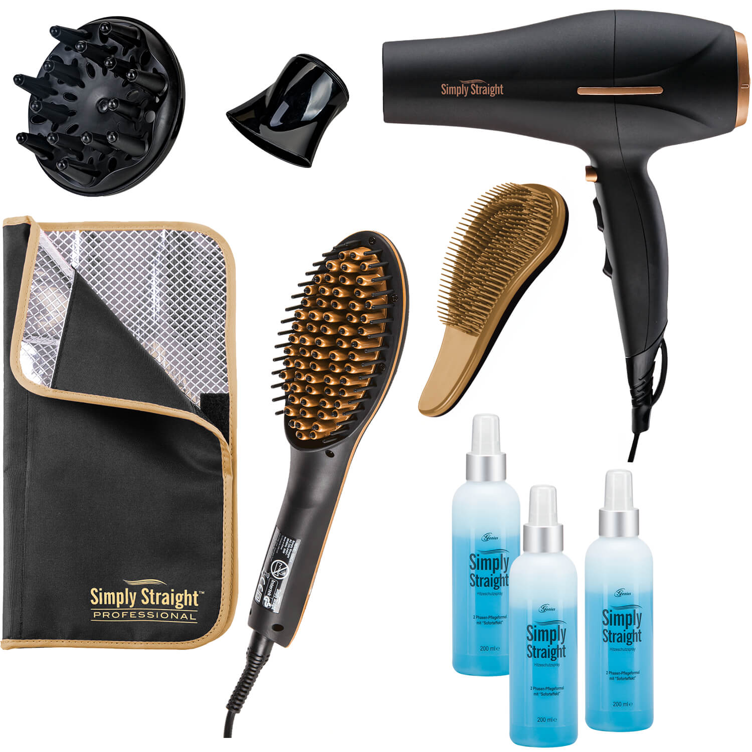 Genius Simply Straight Professional Deluxe, Set...