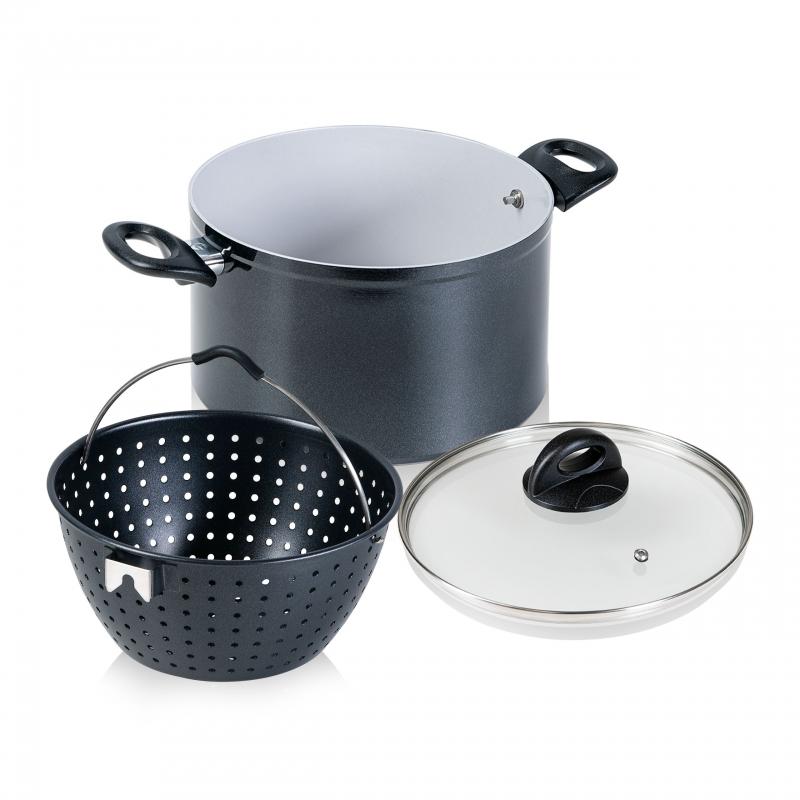 Cerafit Magic Pot | Topf mit Siebeinsatz Ø 24 cm | Set 3-tlg. | B-Ware
