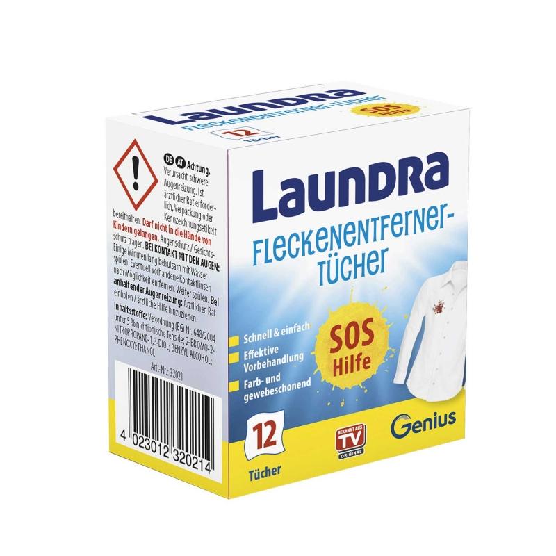 Laundra | Fleckenentferner-Tücher | Set 12-tlg.